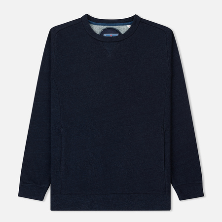 Мужская толстовка Blue Blue Japan J3811 Mod Yarn Dyed Crew Neck Indigo