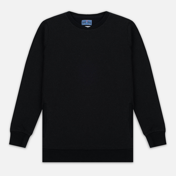 Мужская толстовка Blue Blue Japan J5445 Crepe Crew Neck Black