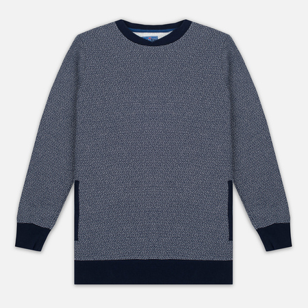 Мужская толстовка Blue Blue Japan J5445 Crepe Crew Neck Navy