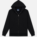Мужская толстовка Blue Blue Japan J5447 Crepe Sweat Zipped Parka Black фото- 0