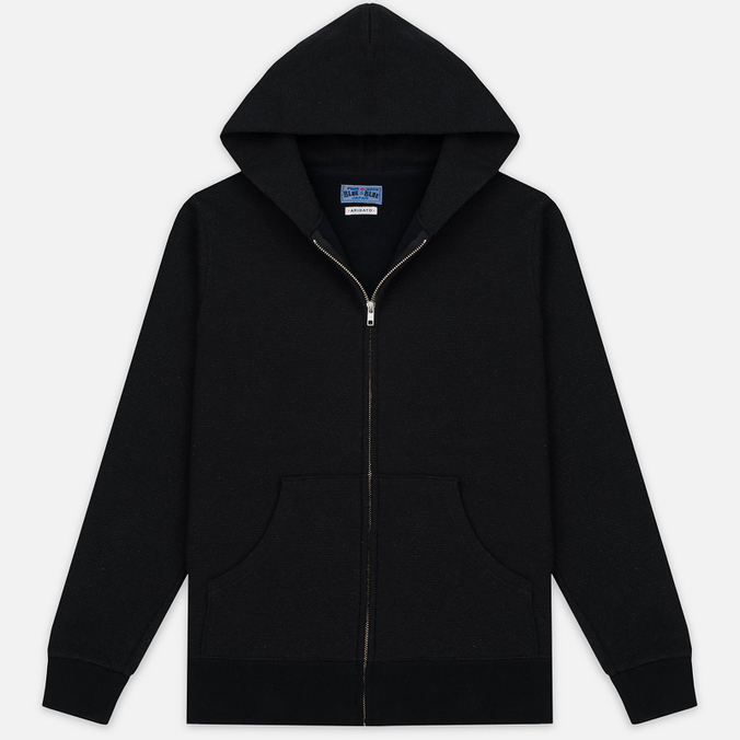 Мужская толстовка Blue Blue Japan J5447 Crepe Sweat Zipped Parka Black