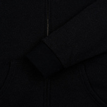 Мужская толстовка Blue Blue Japan J5447 Crepe Sweat Zipped Parka Black фото- 2