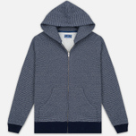 Мужская толстовка Blue Blue Japan J5447 Crepe Sweat Zipped Parka Navy фото- 0