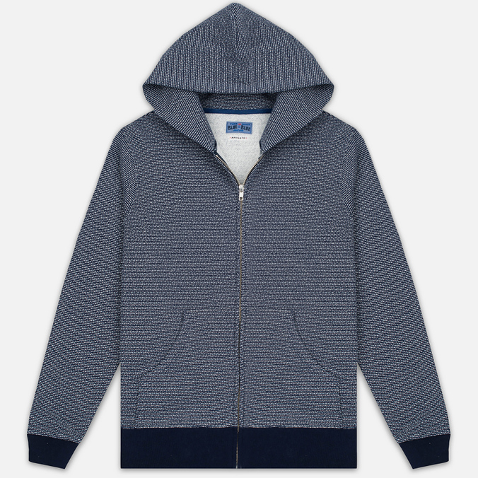 Мужская толстовка Blue Blue Japan J5447 Crepe Sweat Zipped Parka Navy