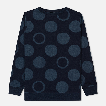 Мужская толстовка Blue Blue Japan J5624 Yarn Dyed Bubble Dot Bassen Printed Indigo