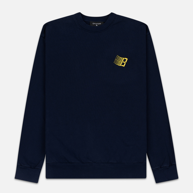 Мужская толстовка Bronze 56K Embroidered B Logo Crew Navy