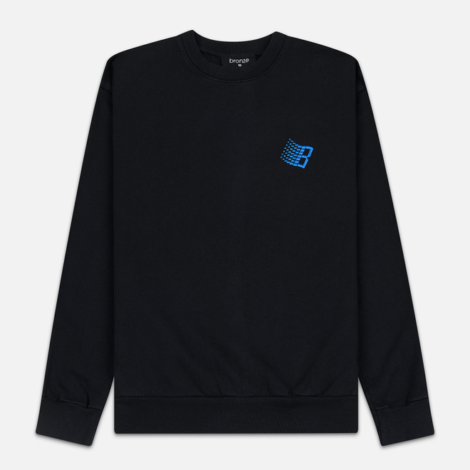 Мужская толстовка Bronze 56K Embroidered B Logo Crew Off Black