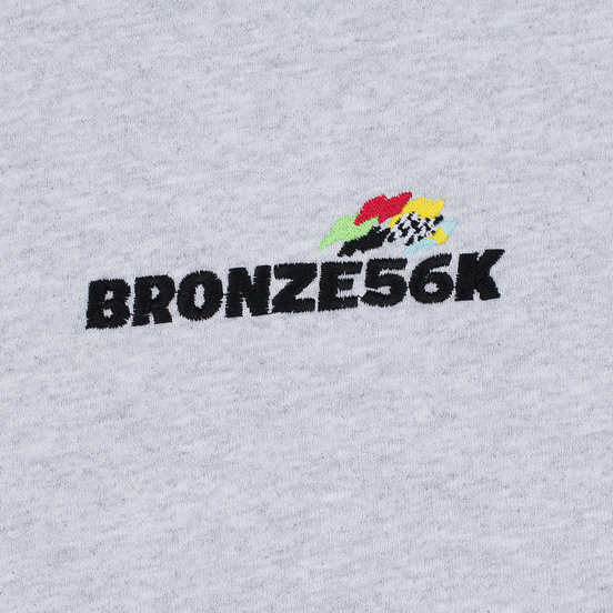 Мужская толстовка Bronze 56K Embroidered Daytona Hoody Ash Grey