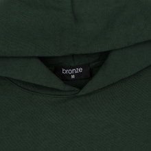 Мужская толстовка Bronze 56K Embroidered Smoke Hoody Dark Green фото- 1