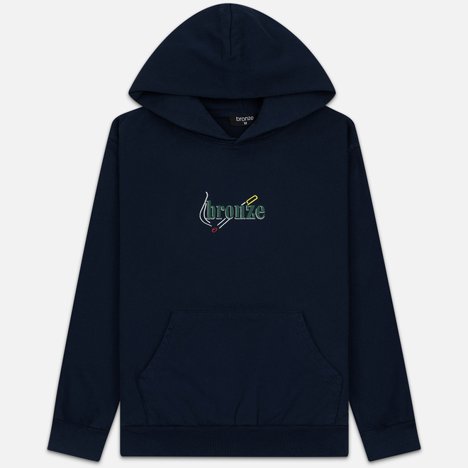 Мужская толстовка Bronze 56K Embroidered Smoke Hoody Navy