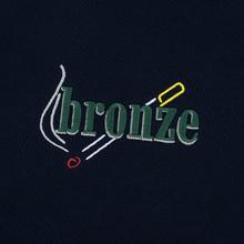 Мужская толстовка Bronze 56K Embroidered Smoke Hoody Navy фото- 2