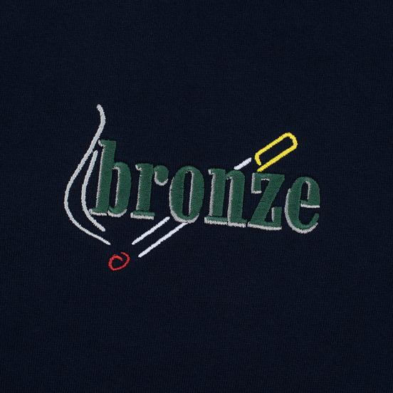 Мужская толстовка Bronze 56K Embroidered Smoke Hoody Navy