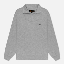 Мужская толстовка Bronze 56K Quarter Zip Mock Neck Heather Grey/Black