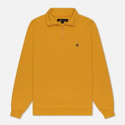 Мужская толстовка Bronze 56K Quarter Zip Mock Neck Mustard/Navy
