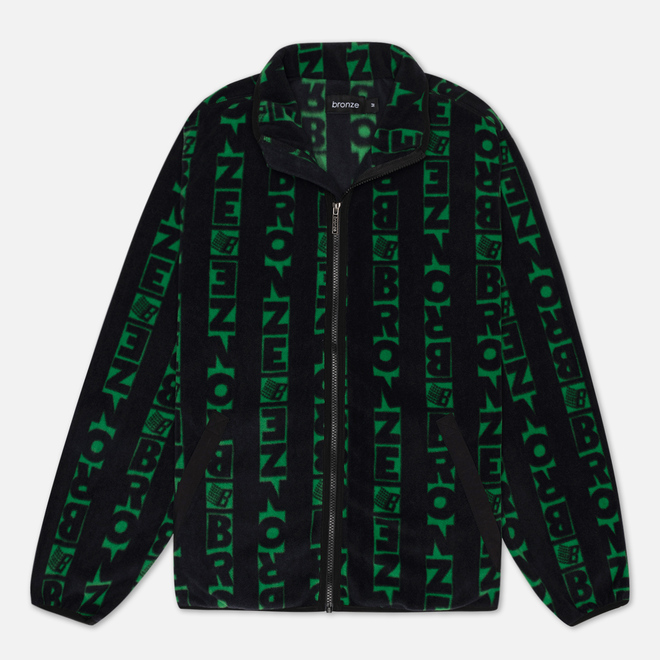 Мужская толстовка Bronze 56K Vertical Full Zip Fleece Black/Green