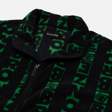 Мужская толстовка Bronze 56K Vertical Full Zip Fleece Black/Green фото- 1