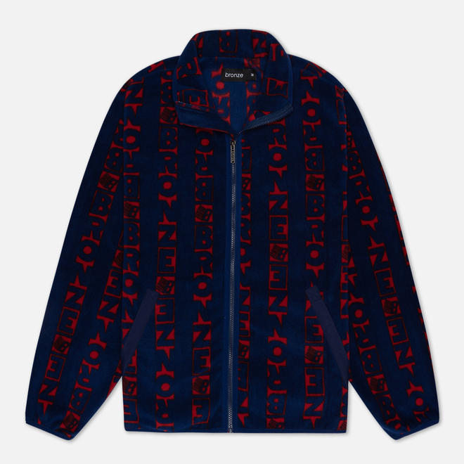 Мужская толстовка Bronze 56K Vertical Full Zip Fleece Navy/Red