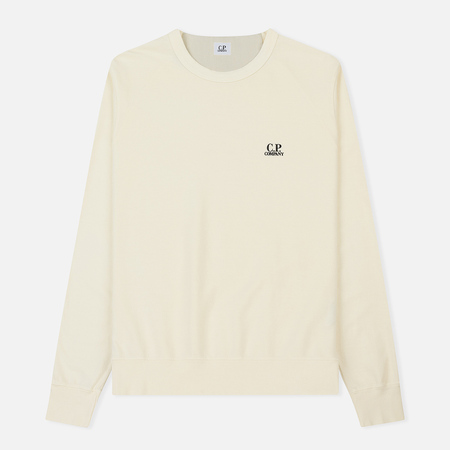 Мужская толстовка C.P. Company Basic Crew Neck Garment Dyed Gauze White