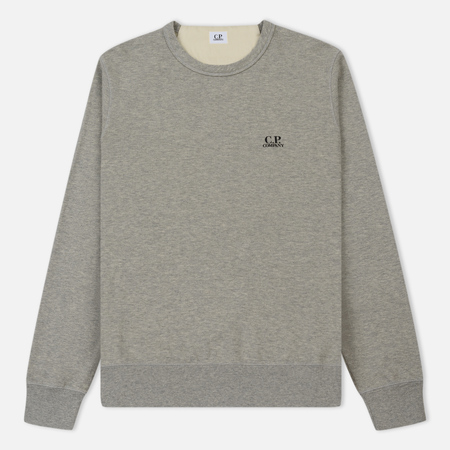 Мужская толстовка C.P. Company Basic Crew Neck Garment Dyed Grey Melange