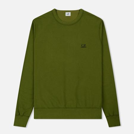 Мужская толстовка C.P. Company Basic Crew Neck Garment Dyed Pesto