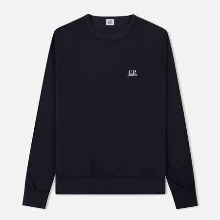 Мужская толстовка C.P. Company Basic Crew Neck Garment Dyed Total Eclipse