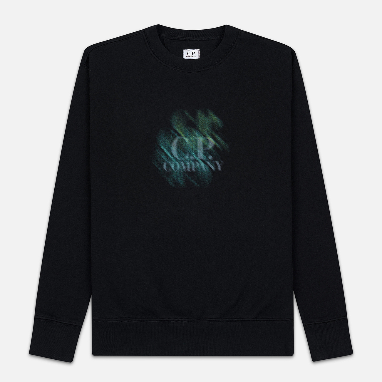 Мужская толстовка C.P. Company Blurred Graphic Logo Black
