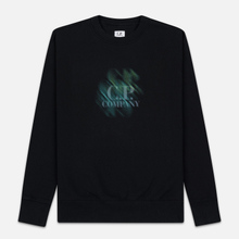 Мужская толстовка C.P. Company Blurred Graphic Logo Black фото- 0