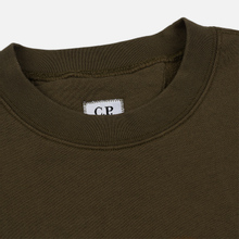Мужская толстовка C.P. Company Blurred Graphic Logo Olive Night фото- 1