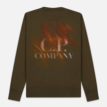 Мужская толстовка C.P. Company Blurred Graphic Logo Olive Night фото- 4