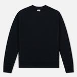 Мужская толстовка C.P. Company Classic Stitch Logo Crew Black фото- 0