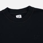 Мужская толстовка C.P. Company Classic Stitch Logo Crew Black фото- 1