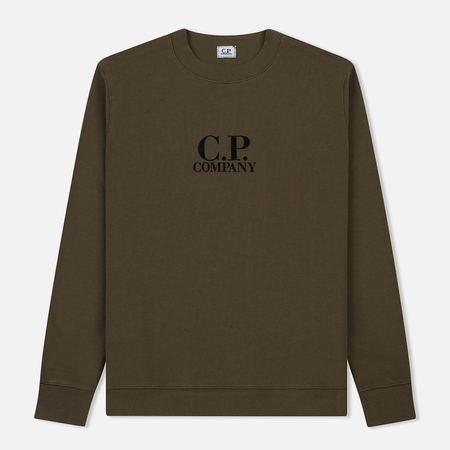Мужская толстовка C.P. Company Crew Neck Diagonal Fleece Beech
