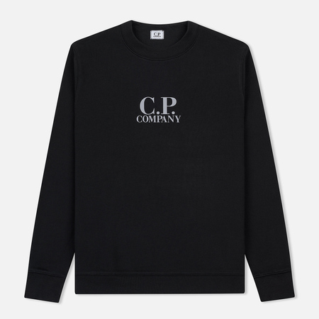 Мужская толстовка C.P. Company Crew Neck Diagonal Fleece Black