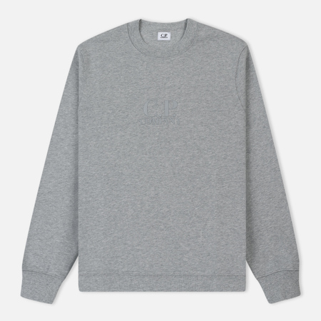 Мужская толстовка C.P. Company Crew Neck Diagonal Fleece Grey Melange