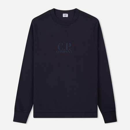 Мужская толстовка C.P. Company Crew Neck Diagonal Fleece Total Eclipse