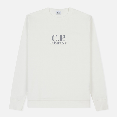 Мужская толстовка C.P. Company Crew Neck Diagonal Fleece White
