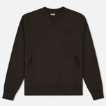 Мужская толстовка C.P. Company Diagonal Fleece Crew Neck Moss фото- 0