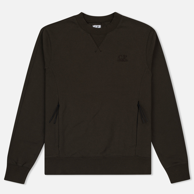 Мужская толстовка C.P. Company Diagonal Fleece Crew Neck Moss