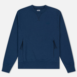 Мужская толстовка C.P. Company Diagonal Fleece Crew Neck True Navy фото- 0