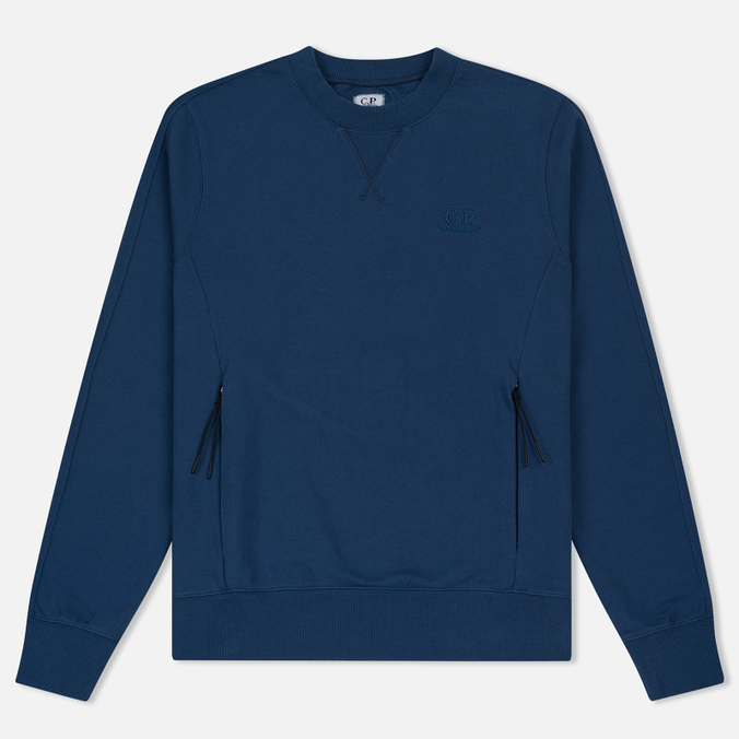 Мужская толстовка C.P. Company Diagonal Fleece Crew Neck True Navy