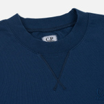 Мужская толстовка C.P. Company Diagonal Fleece Crew Neck True Navy фото- 1