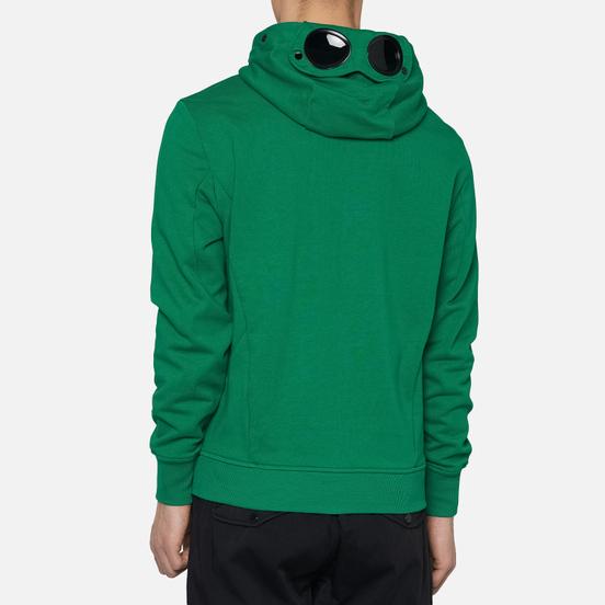 Мужская толстовка C.P. Company Diagonal Fleece Full-Zip Goggle Hooded Jelly Bean