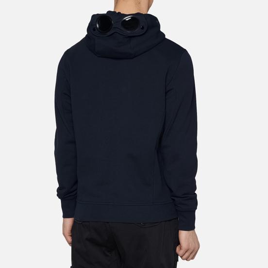 Мужская толстовка C.P. Company Diagonal Fleece Full-Zip Goggle Hooded Total Eclipse