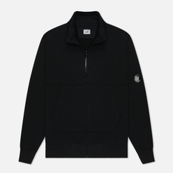 Мужская толстовка C.P. Company Diagonal Fleece Full-Zip Lens Black