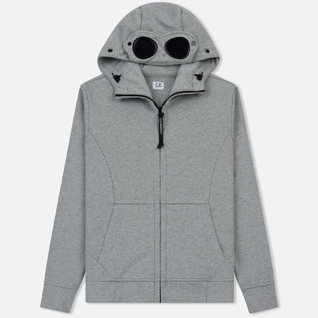 Мужская толстовка C.P. Company Diagonal Fleece Goggle Grey Melange
