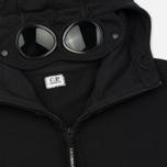 Мужская толстовка C.P. Company Diagonal Fleece Goggle Zip Hoodie Caviar фото- 1