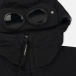 Мужская толстовка C.P. Company Diagonal Fleece Goggle Zip Hoodie Caviar фото- 2