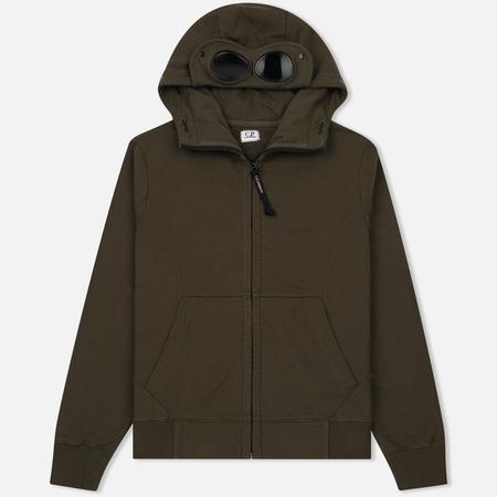 Мужская толстовка C.P. Company Diagonal Fleece Goggle Zip Hoodie Moss