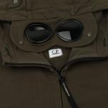 Мужская толстовка C.P. Company Diagonal Fleece Goggle Zip Hoodie Moss фото- 2