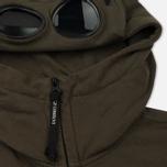 Мужская толстовка C.P. Company Diagonal Fleece Goggle Zip Hoodie Moss фото- 1